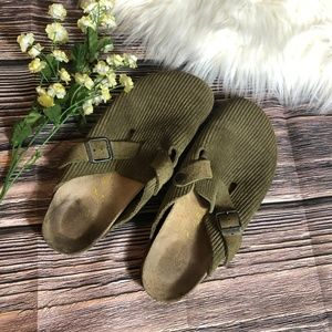 Birkenstock Tan Ribbed Clogs Size 40